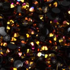 3/4mm COPPER Iridescent AB Diamanté Rhinestone Embellishments